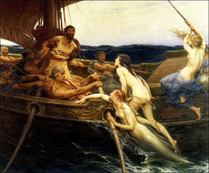 Herbert James Draper - Ulysses and the Sirens 1909